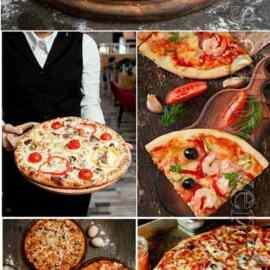 Pizza set stock photo Free Download