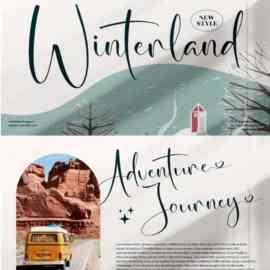 Winterland Script Romantic Calligraphy Font Free Download