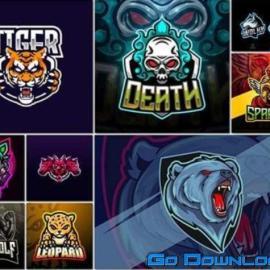 Bundle mascot logo vector design vol 10 Free Download