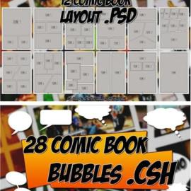 Comics Book Creator Pack for Photoshop Free Download