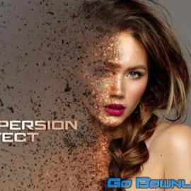 Dispersion Photo Effect with Dust Mockup 40  Free Download