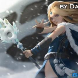 Ice Princess Full video process + Brushes by Dao Trong Le