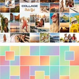 Photo Collage Frame Effects Mockup Free Download