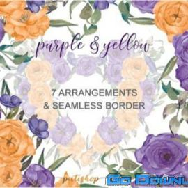 Purple Yellow Roses Bouquets Free Download