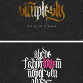 Simplesly Font Free Download