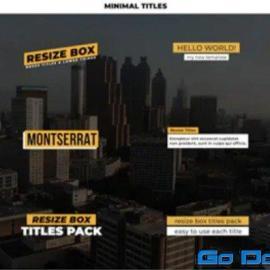 Videohive Minimal Titles 20 Ae 34355277 Free Download