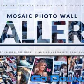 Videohive Mosaic Photo Gallery Logo Reveal 33823891 Free Download