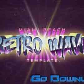 Videohive Retro Wave Title 34065016 Free Download