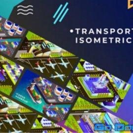 Videohive Transportation Isometric Animation After Effects 34349242 Free Download