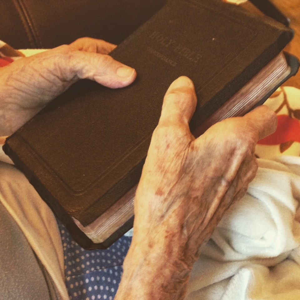 Mom with her Bible 8-22-16
