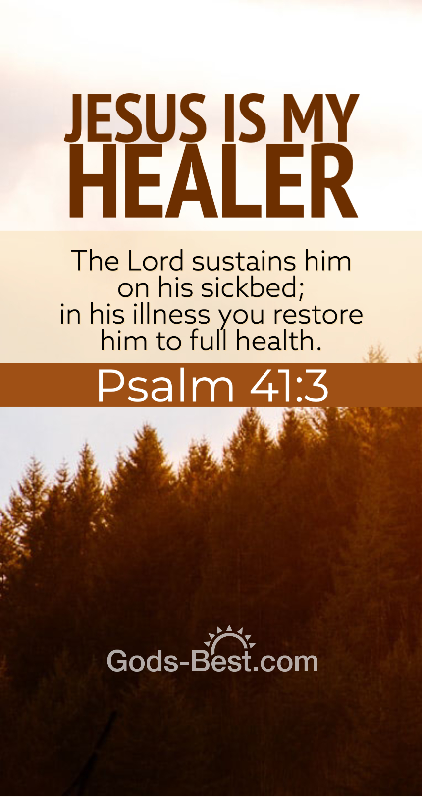 Jesus Is My Healer phone wallpaper