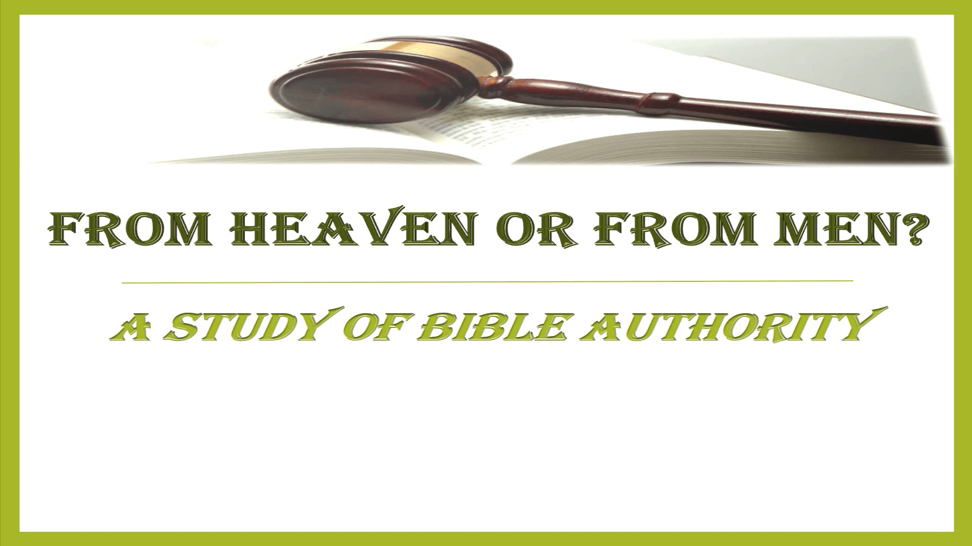 From Heaven Or From Men Series