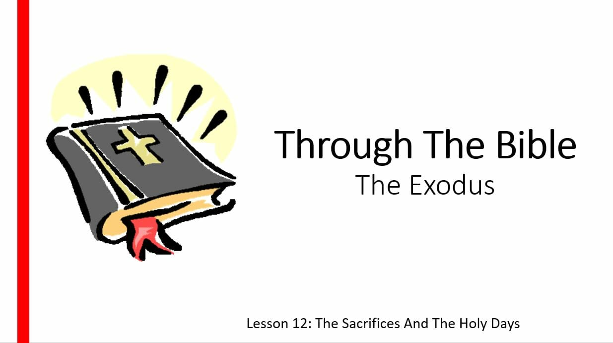 The Exodus (Lesson 12: The Sacrifices And Holy Days)