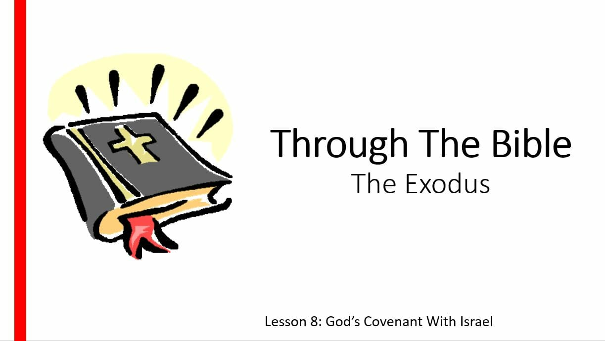 The Exodus (Lesson 8: God's Covenant With Israel)