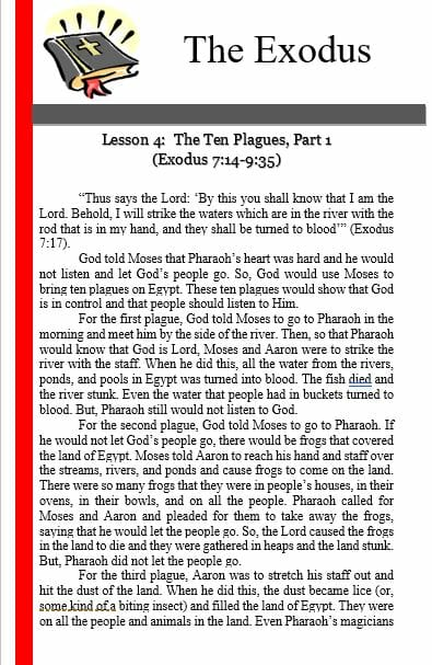 The Exodus (Lesson 4: The Ten Plagues (Part 1))