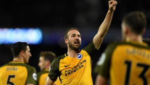 Glenn Murray levant son poing victorieux