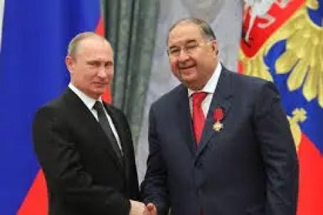 Ousmanov avec Vladimir Poutine