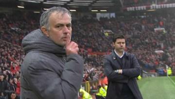 Mourinho, doigt sur les lèvres