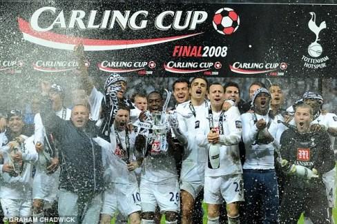 Dernier titre de Tottenham : la League Cup remportée en 2008 face à Chelsea. (Source : Graham Chadwick)