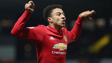 Jesse Lingard après son but en solitaire à Watford. (Photo : premierleague.com)
