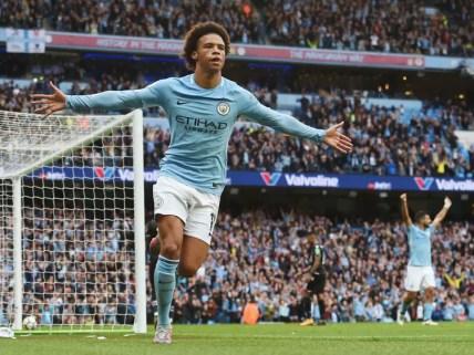 Leroy Sané célébrant un but