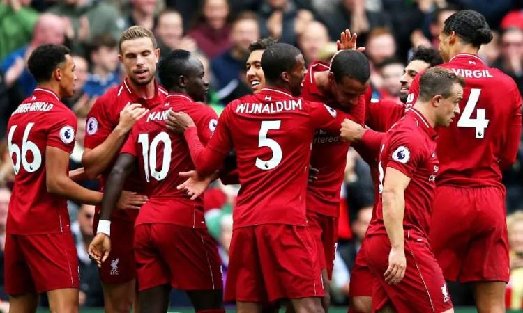 Liverpool, seul leader du championnat à l'issue de cette sixième journée (Source : liverpoolfc.com)
