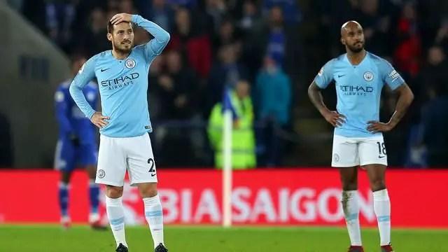 Manchester City, à l'image de Fabian Delph et David SIlva, accuse le coup en ce mois de décembre (Crédits : Eurosport).