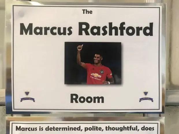 La salle « Marcus Rashford ». Crédits : theguardian