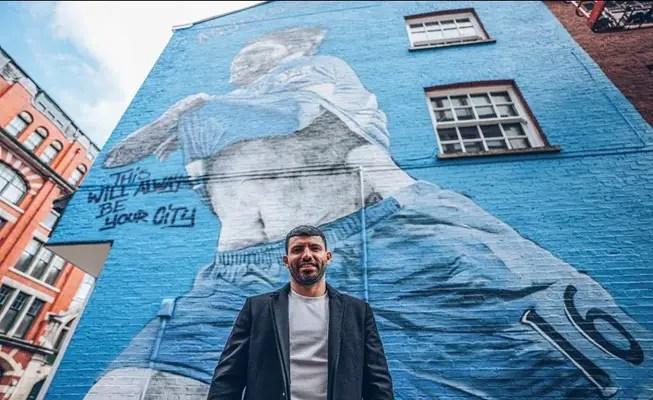Une fresque murale pour une légende de la ville (Crédits : Manchester City)