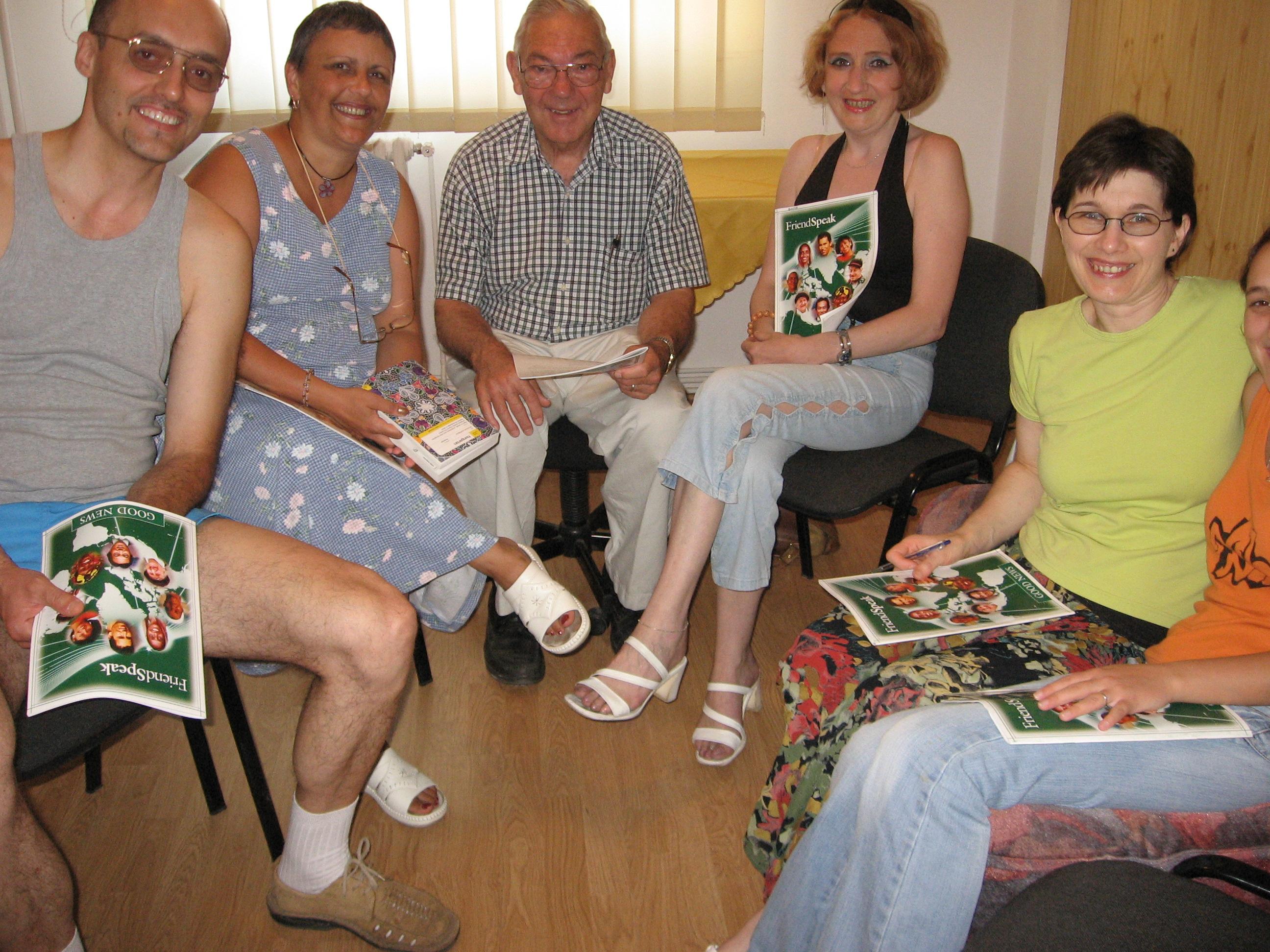 Tibor, Csilla, Dan, Blanka, Utca Small Group English Bible Study