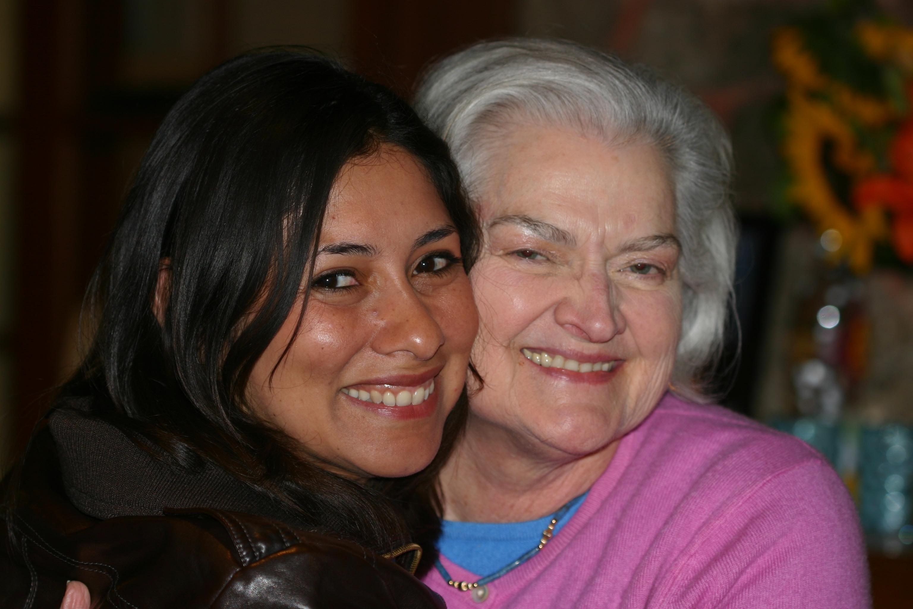 """Claudia, our Brazilian Dutch """"Granddaughter"""" & Anne"""