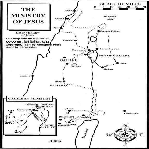 Ministry Of Jesus