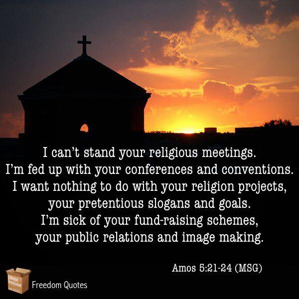 tired of your religion