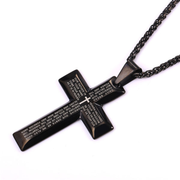 starlord bible cross necklace