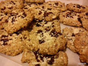 Cranberries and Almond Crunchies
