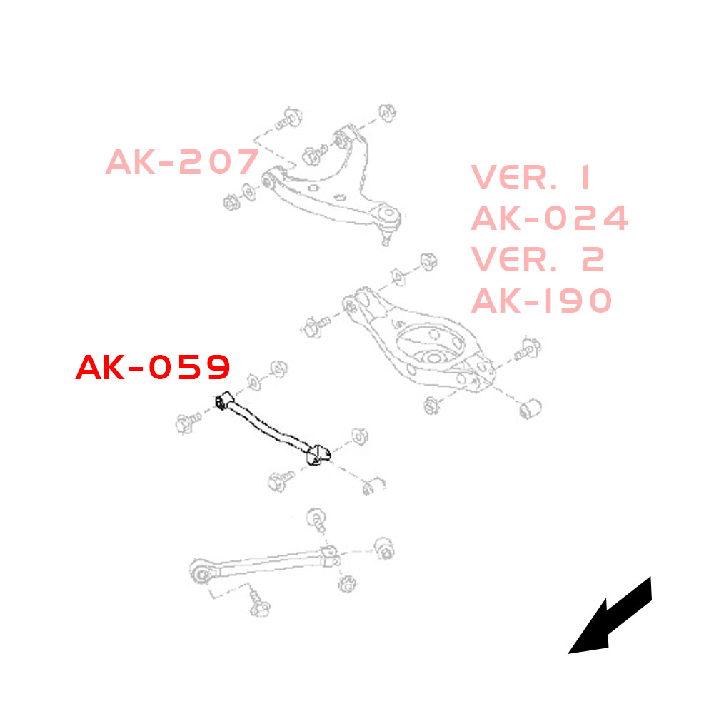 Godspeed Adjustable Rear Camber Arms With Spherical