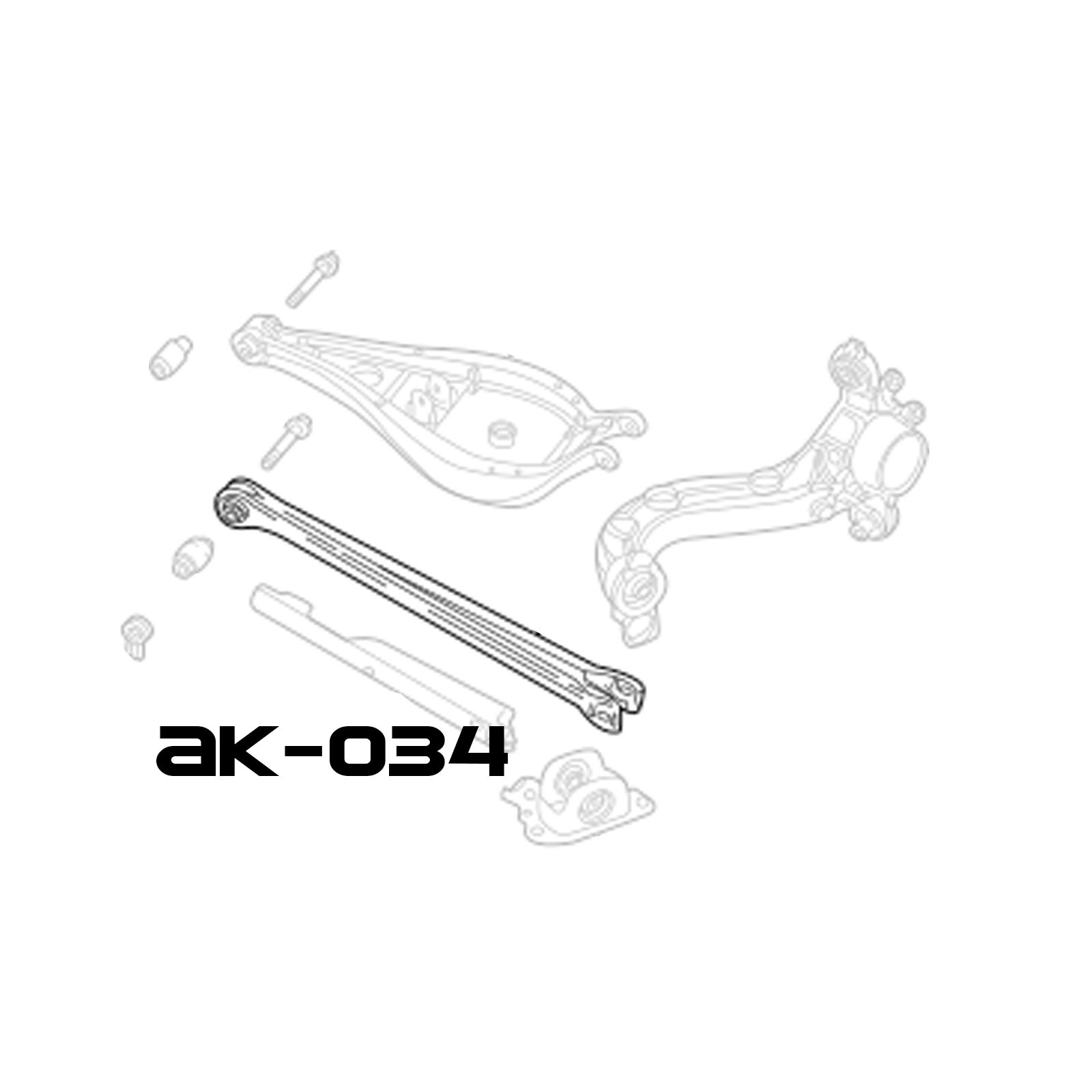 Adjustable Rear Camber Arms With Spherical Bearings BMW 3