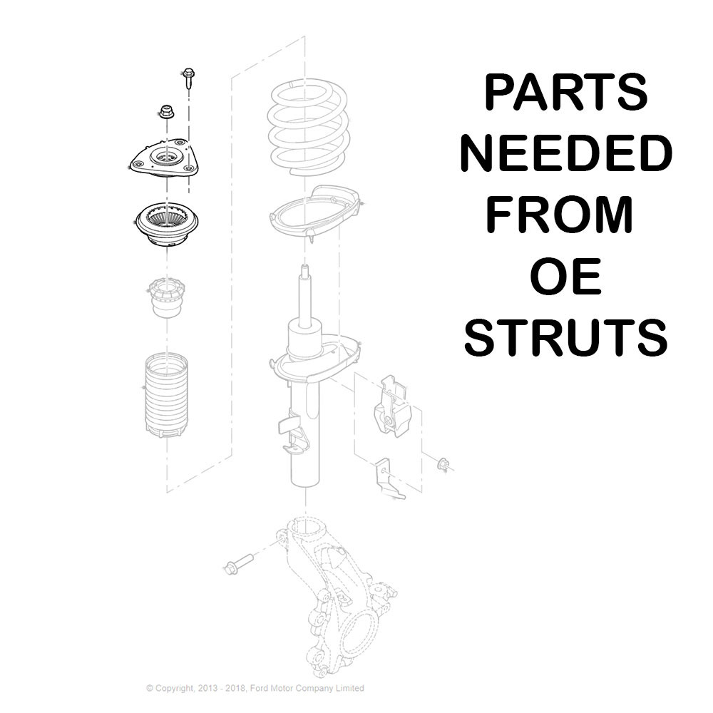 Lowering Kit for Ford Fusion 2013-19 MonoSS Coilovers