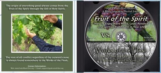 Fruit of Spirit Woks of the Flesh inside Audio CD