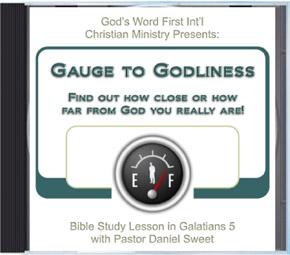 Gauge to Godliness Sermon Audio CD