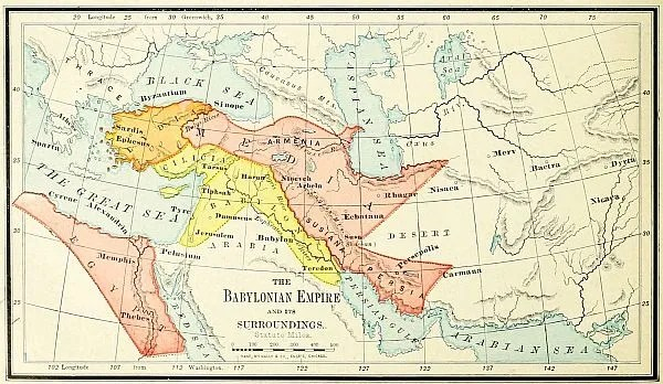 Babylonian Empire Bible Map