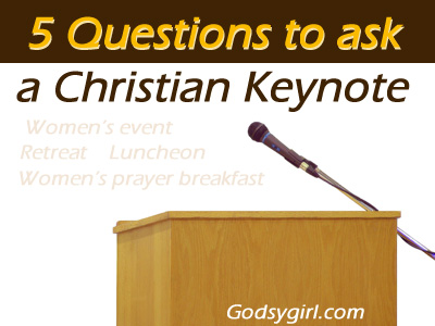 questions to ask Christian speaker for a women's event