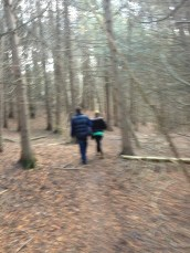 although it blurred, I still love the effect of this Daddy and daughter in the woods shot