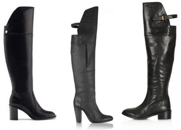 3.1 PHILLIP LIM Ora Runway Over-the-Knee Buckle-Back Boot, 920€ - UTERQÜE Bota tacón, 169€ - TOPSHOP DESTINY Over Knee Boots, 180€