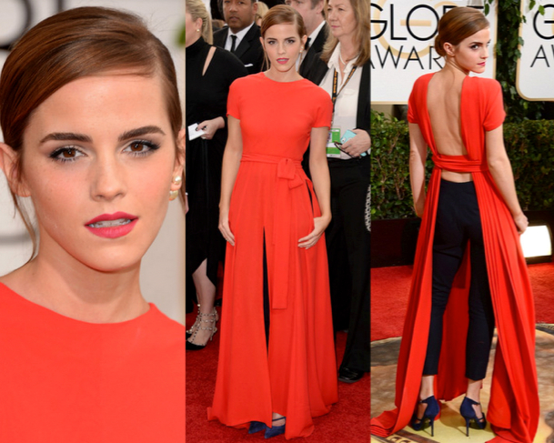EMMA WATSON in CHRISTIAN DIOR - 71st ANNUAL GOLDEN GLOBES AWARDS 2014