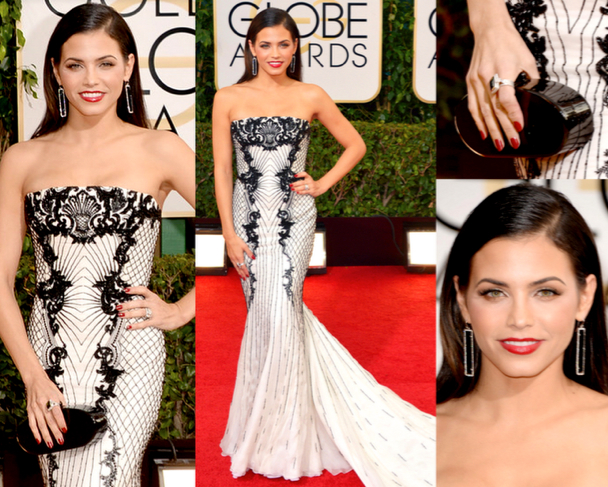 JENNA DEWAN-TATUM in ROBERTO CAVALLI - 71st ANNUAL GOLDEN GLOBES AWARDS 2014