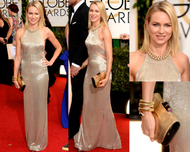 NAOMI WATTS in TOM FORD - 71st ANNUAL GOLDEN GLOBES AWARDS 2014