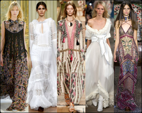 boho chic, vestidos boho, gipsy chic, tendencias primavera-verano 2017, tendencias, tendencias milan fashion week, milan fashion week, trends spring 2017, trends milan fashion week, trends