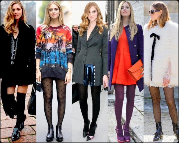 chiara ferragni, streetstyle, medias, tights, socks, tights trend, trend, tendencia medias, tendencia, otoño-invierno 2016-2017, otoño 2016, fall 2016, fall 2016 trend, accessories, accesorios