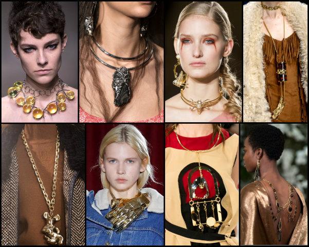 collares, necklaces, joyas, tendencias, jewels, trends, fall 2017, joyas de tendencia, jewels trend
